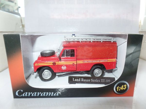 Cararama CR039 1/43 O Scale Land Rover III 109 Fire & Rescue Ladders Beacon MIMB